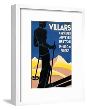 Advertising poster for Villars, Switzerland-Johannes Handschin-Framed Art Print