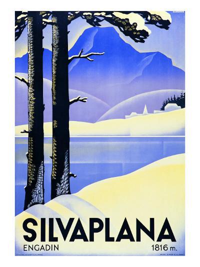 Advertising Poster Silvaplana-Ludwig Hohlwein-Giclee Print