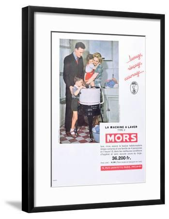 Advertisment for 'Mors' Washing Machines--Framed Giclee Print