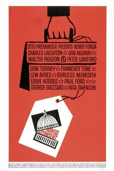 Advise And Consent, 1962, Directed by Otto Preminger--Giclee Print