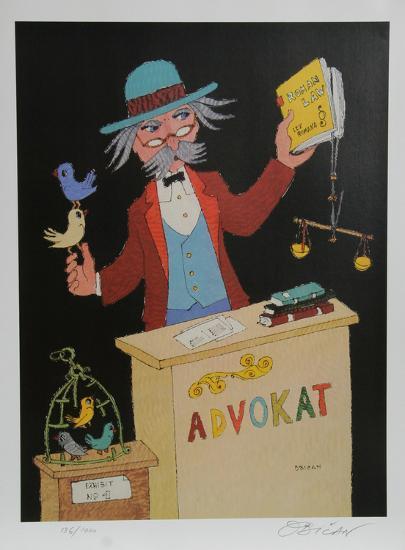 Advocat-Jovan Obican-Collectable Print