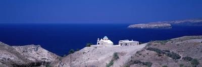 Aegean and Church Near Akrotiri Santorini Greece--Photographic Print