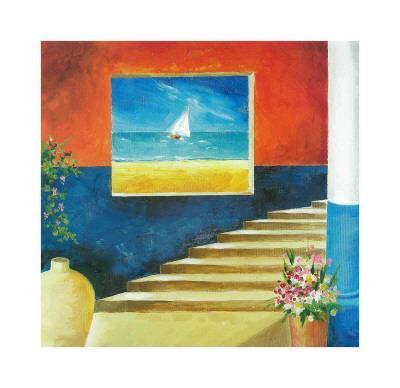 Aegean Window-Don Valenti-Art Print
