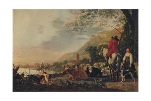 'A Hilly Landscape with Figures', c1655 by Aelbert Cuyp