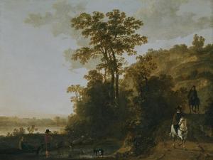 An Evening Ride Near a River by Aelbert Cuyp