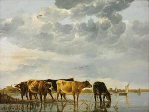 Cows in a River by Aelbert Cuyp