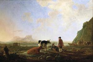 Herdsmen with Cows, C.1645 by Aelbert Cuyp