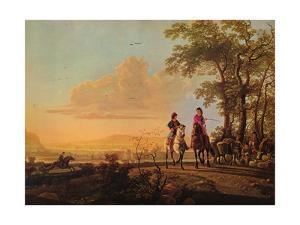 'Horsemen and Herdsmen with Cattle', 1655-1660 by Aelbert Cuyp