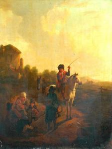 Inquiring The Way by Aelbert Cuyp
