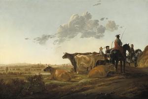 Landscape with Herdsmen, c.1650-52 by Aelbert Cuyp