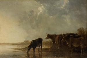 River Landscape with Cows by Aelbert Cuyp