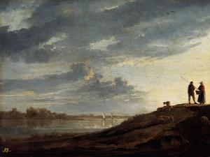 Sunset over the River, 1650s by Aelbert Cuyp