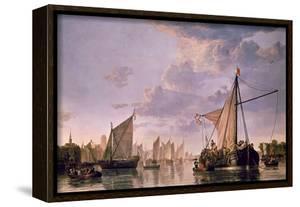 The Maas at Dordrecht, 1680 by Aelbert Cuyp