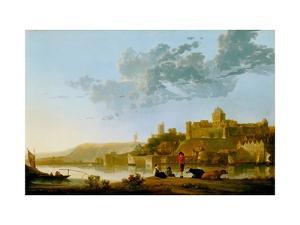 The Valkhof At Nijmegen by Aelbert Cuyp
