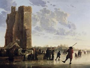 View of the Maas in Winter by Aelbert Cuyp
