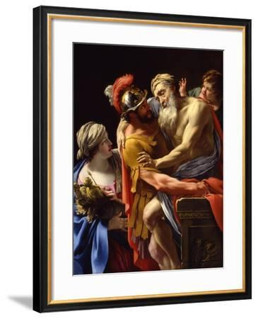 Æneas and His Father Fleeing Troy, C.1635-Simon Vouet-Framed Giclee Print