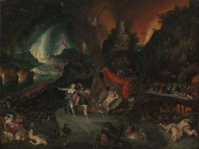 Aeneas and the Sibyl in the Underworld, 1630s-Jan the Younger Brueghel-Giclee Print