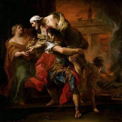 Aeneas Carrying Anchises-Carle van Loo-Giclee Print