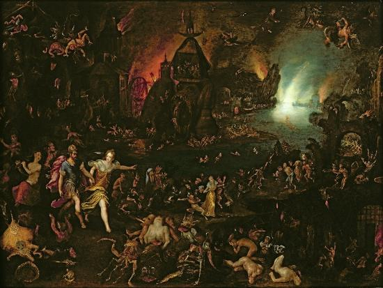 Aeneas in the Underworld-Jan Brueghel the Elder-Giclee Print