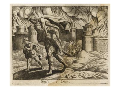 Aeneas Leaves Troy--Giclee Print