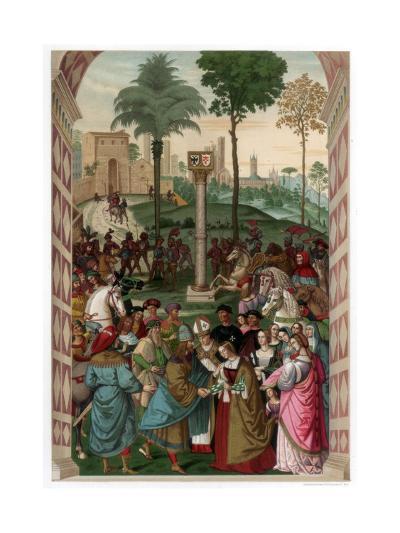Aeneas Piccolomini Introduces Eleonora of Portugal to Frederick III, 1502-1508-Franz Kellerhoven-Giclee Print