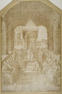 Aeneas Piccolomini Kissing the Slipper of Pope Eugenius, after Pinturicchio