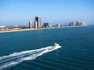 Aerial Along Coast of West Palm Beach, Florida