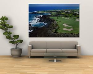 Aerial Francis H. Li Brown Golf Course, Hawaii, USA