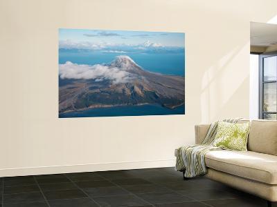 Aerial Image of Mount St Augustine Volcano, Cook Inlet, Alaska-Stocktrek Images-Wall Mural