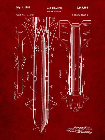 Aerial Missile Patent 1948-Cole Borders-Art Print