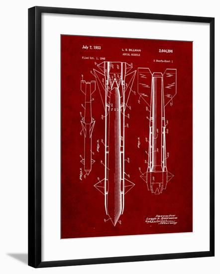 Aerial Missile Patent 1948-Cole Borders-Framed Art Print