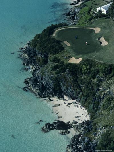 Aerial of a Golf Course in Bermuda-Kenneth Garrett-Photographic Print