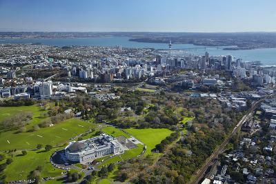 Aerial of Auckland, North Island, New Zealand-David Wall-Photographic Print