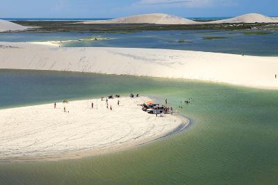Aerial of Dunes Near Jericoacoara, Ceara, Brazil, South America-Alex Robinson-Photographic Print
