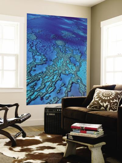 Aerial of Hardy Reef Offshore from Whitsundays Islands-Philip Game-Wall Mural