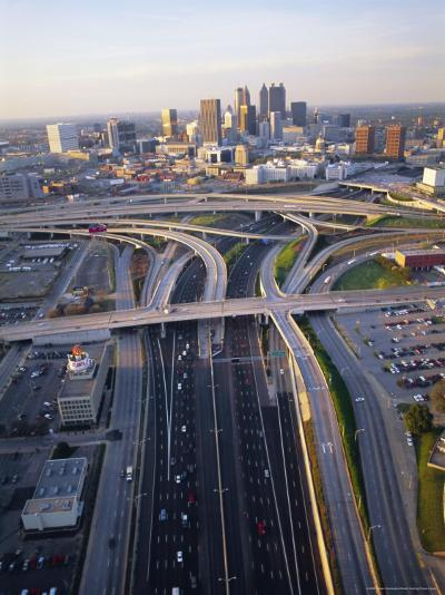 Aerial of Highways Leading to Atlanta, Georgia-Sylvain Grandadam-Photographic Print