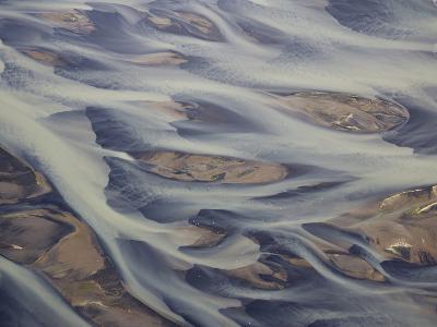 Aerial of Holsa River Delta Fingers, Reykjavik, Iceland-Josh Anon-Photographic Print
