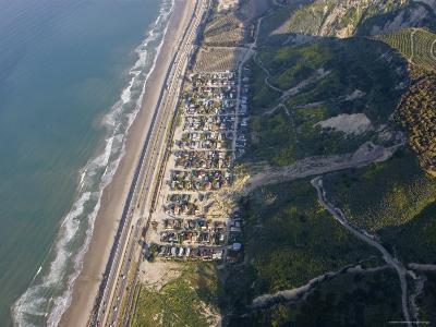 Aerial of la Conchita Mudslide That Killed Ten People in January 2005, California-Rich Reid-Photographic Print