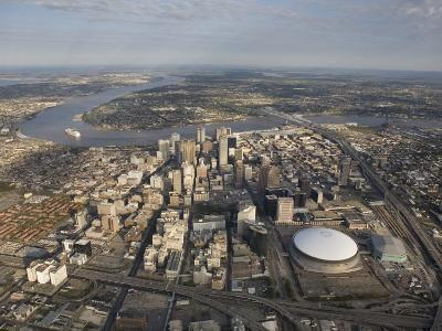 Aerial of New Orleans Looking East-Tyrone Turner-Photographic Print