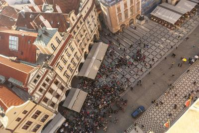 Aerial of Old Town Square. Prague, Czech Republic-Tom Norring-Photographic Print