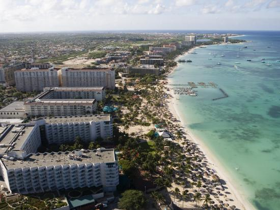 Aerial of Palm Beach and High-Rise Hotels and Resorts-Holger Leue-Photographic Print