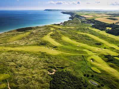 Aerial of Royal Portrush Golf Club on the North Coast of Northern Ireland-Chris Hill-Photographic Print