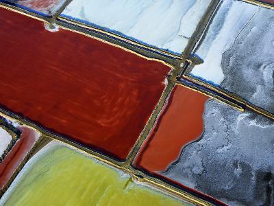 Aerial of Salt Pans-Johnny Haglund-Photographic Print