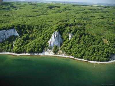 Aerial of Shoreline, Jasmund National Park, Germany--Photographic Print