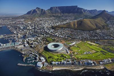 Aerial of Stadium, Golf Club, Table Mountain, Cape Town, South Africa-David Wall-Photographic Print
