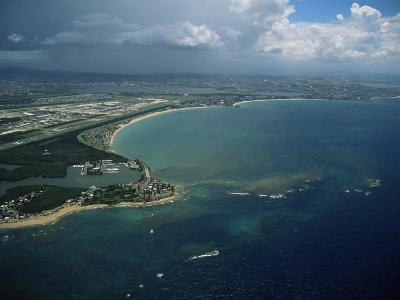 Aerial of the Island of Puerto Rico, West Indies, Central America-James Gritz-Photographic Print
