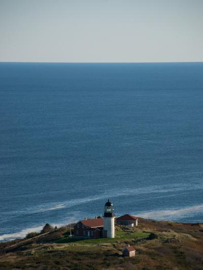 Aerial of the Lighthouse on Seguin Island, Maine-Heather Perry-Photographic Print