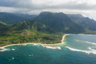 Aerial of the North Shore of the Island of Kauai, Hawaii, United States of America, Pacific-Michael Runkel-Photographic Print