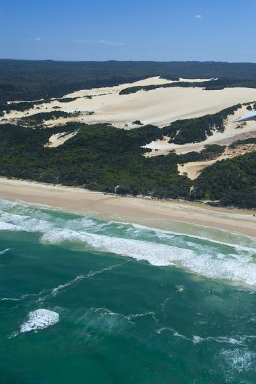 Aerial of the Seventy-Five Mile Beach, Fraser Island, UNESCO Site, Queensland, Australia-Michael Runkel-Photographic Print