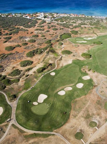 Aerial of Tierra Del Sol Golf Course-Holger Leue-Photographic Print
